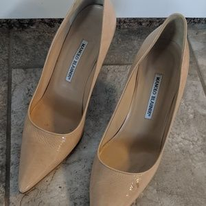Manolo nude colored heels size 39